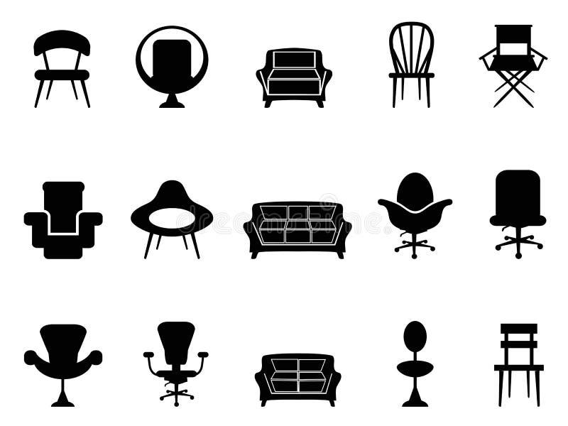 Iconos de la silla libre illustration