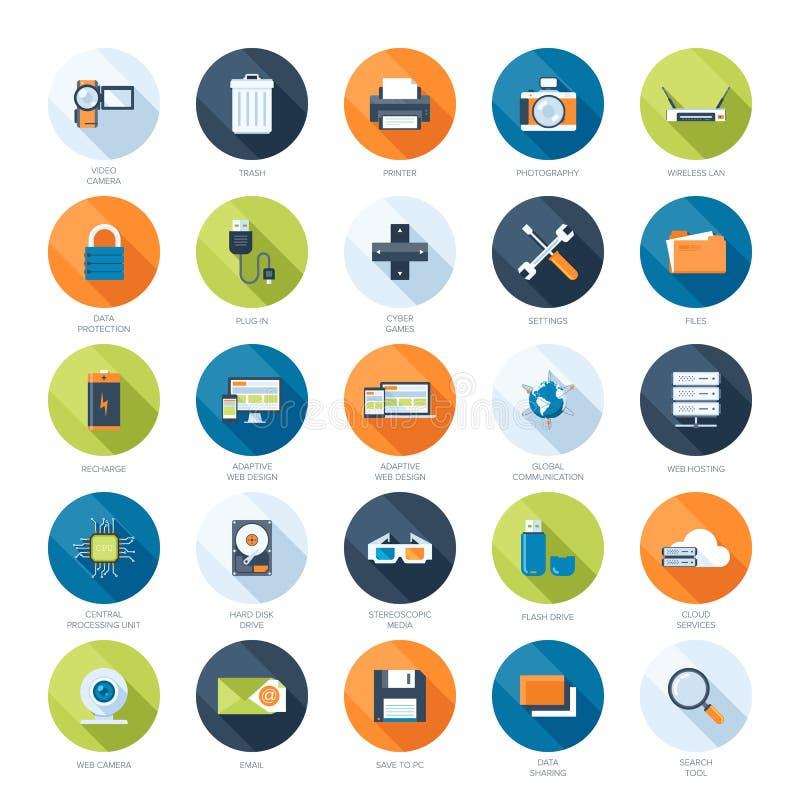 Iconos de la tecnología libre illustration