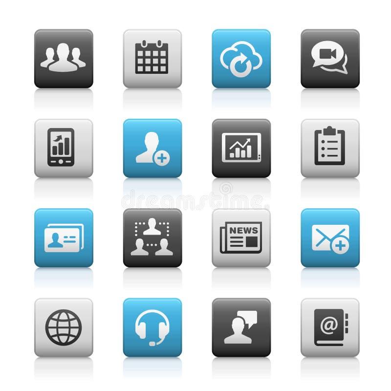 Iconos de la tecnología del negocio, Matte Series stock de ilustración