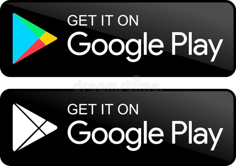 Iconos de la tienda del juego de Google libre illustration