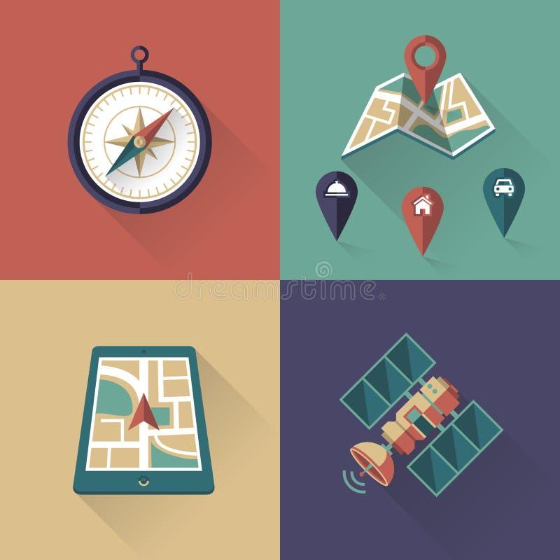 Iconos de la ubicación fotos de archivo libres de regalías