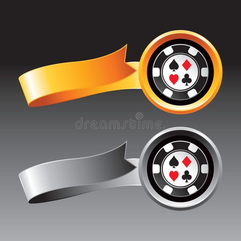 Iconos de la viruta del casino ilustración del vector