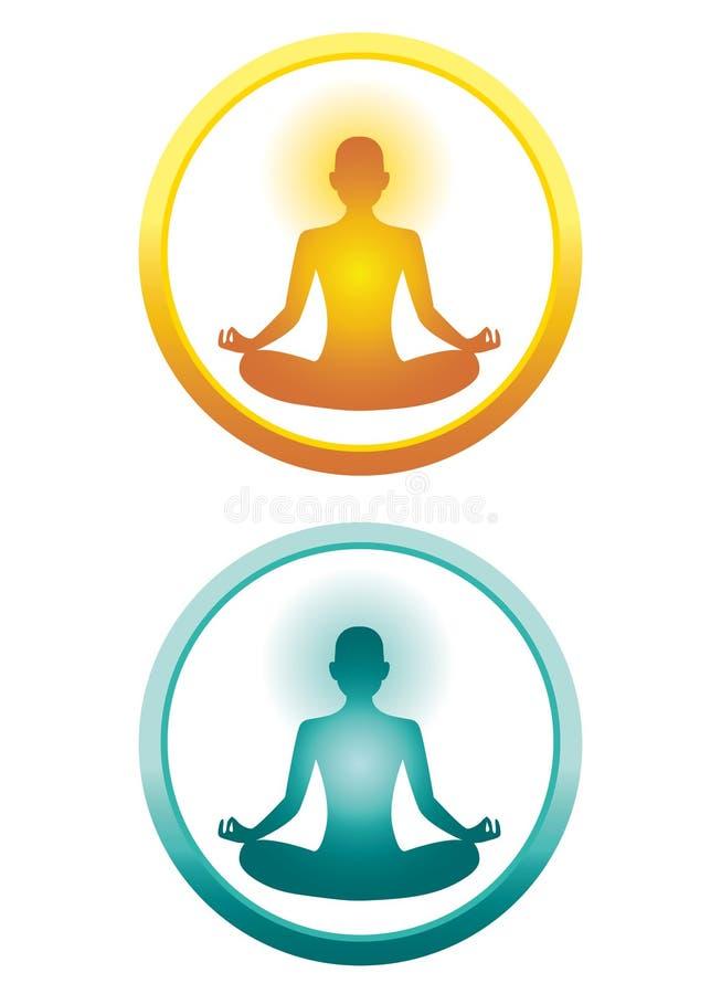 Iconos de la yoga ilustración del vector