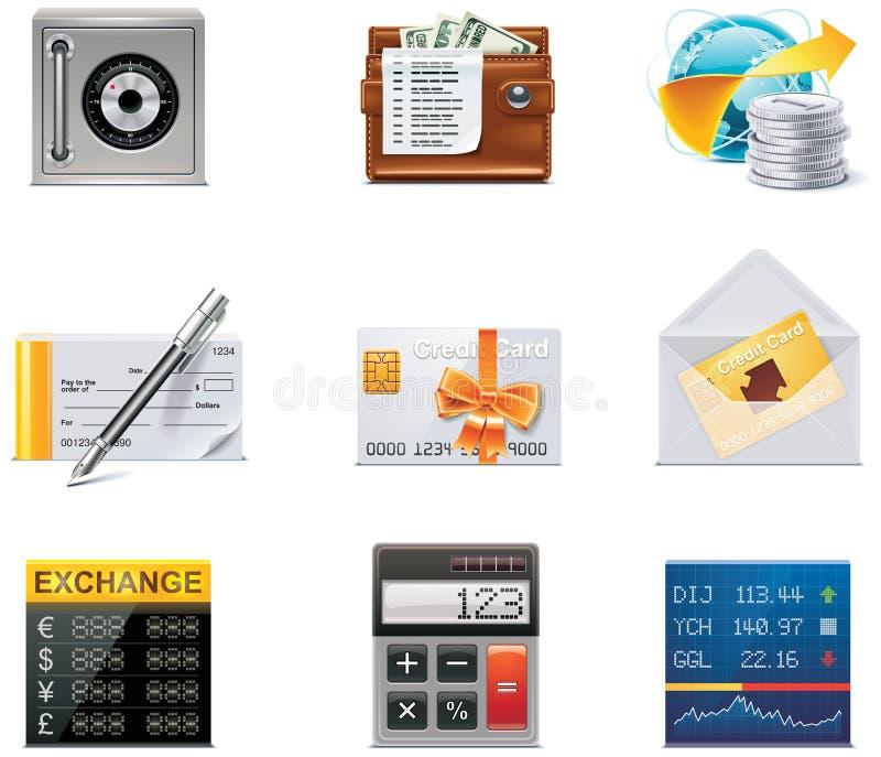 Iconos de las actividades bancarias del vector. Parte 2 ilustración del vector