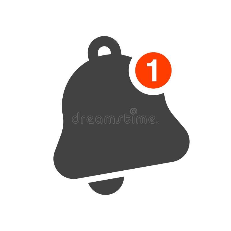 Iconos de las campanas de la notificación fijados ilustración del vector