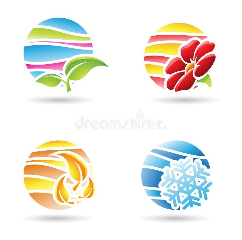 Iconos de las estaciones ilustración del vector