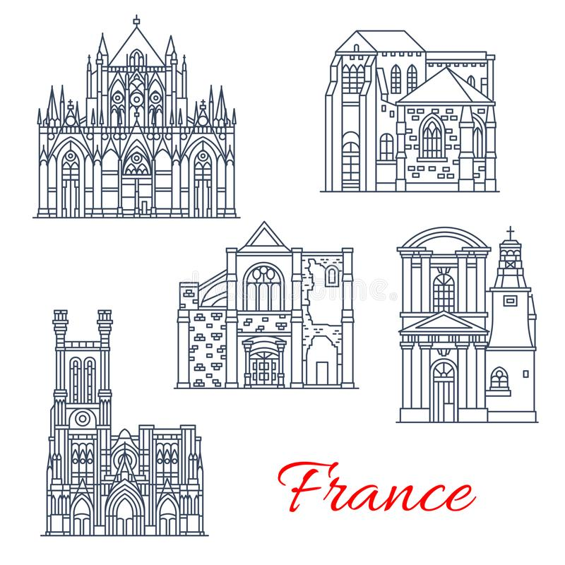 Iconos de las fachadas de las señales del vector de Francia de Provence stock de ilustración