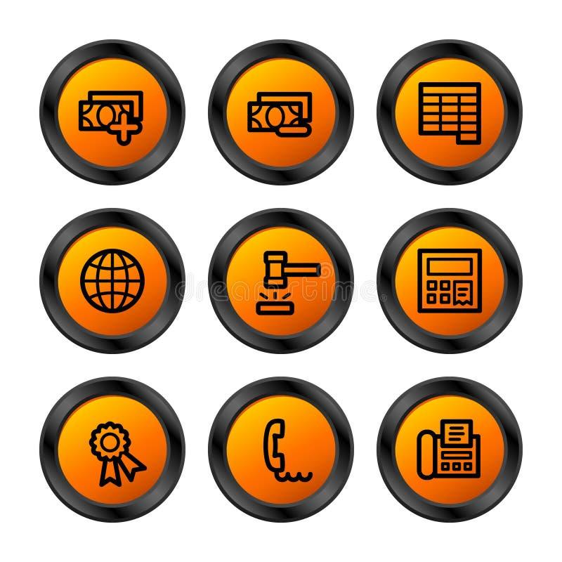Iconos de las finanzas 2, serie anaranjada stock de ilustración
