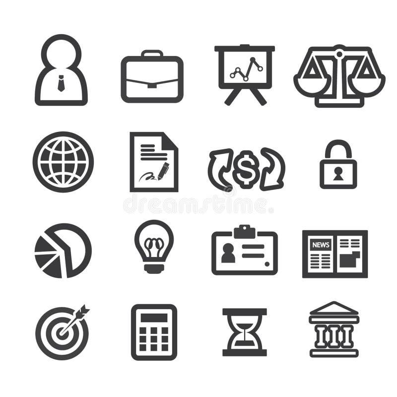 Iconos de las finanzas del negocio fijados stock de ilustración