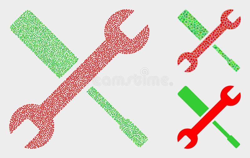 Iconos de las herramientas de configuración del vector del pixel libre illustration