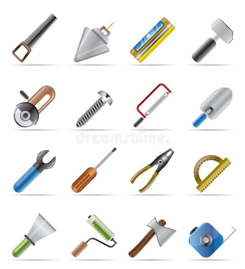 Iconos de las herramientas del edificio y de la construcción libre illustration
