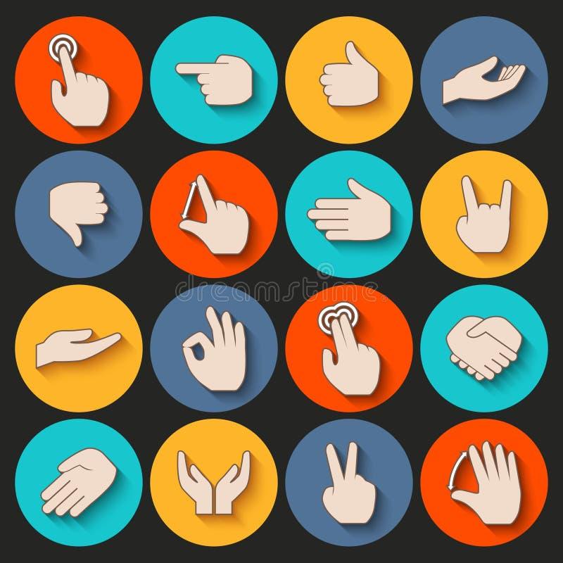 Iconos de las manos fijados libre illustration