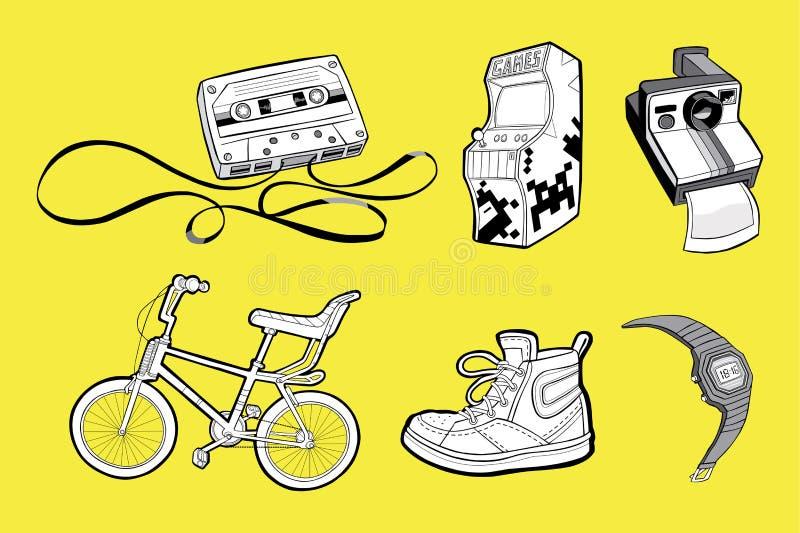Iconos de los años ochenta libre illustration