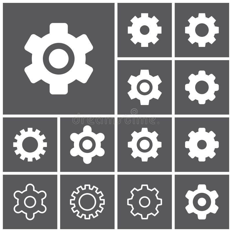 Iconos de los ajustes ilustración del vector