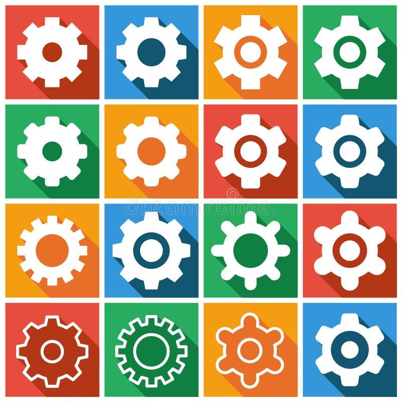 Iconos de los ajustes stock de ilustración