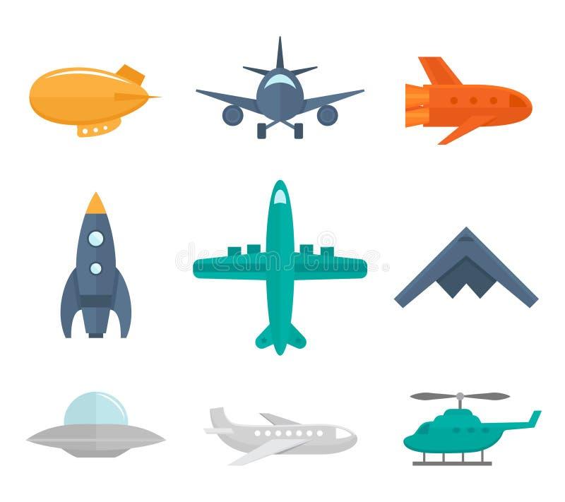 Iconos de los aviones planos libre illustration