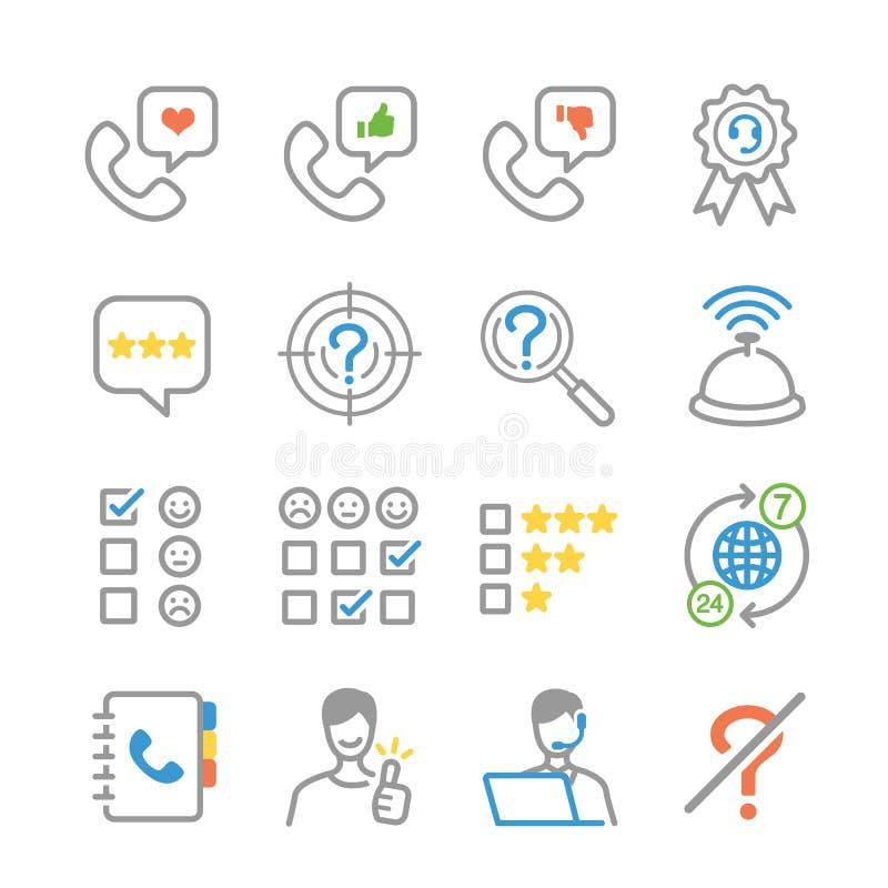 Iconos de los comentarios de clientes libre illustration