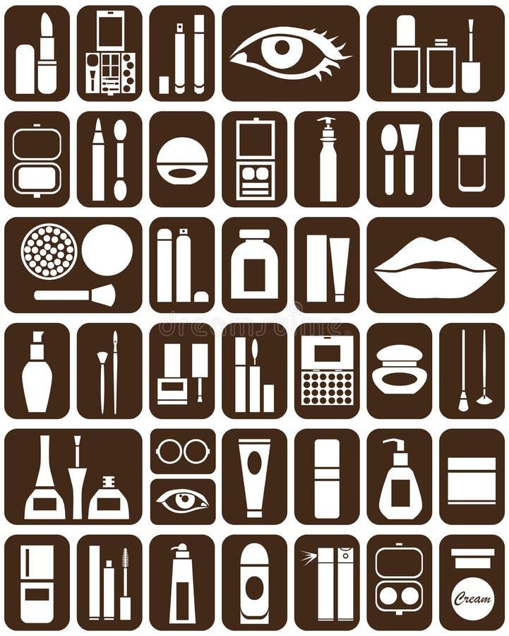 Iconos de los cosméticos libre illustration
