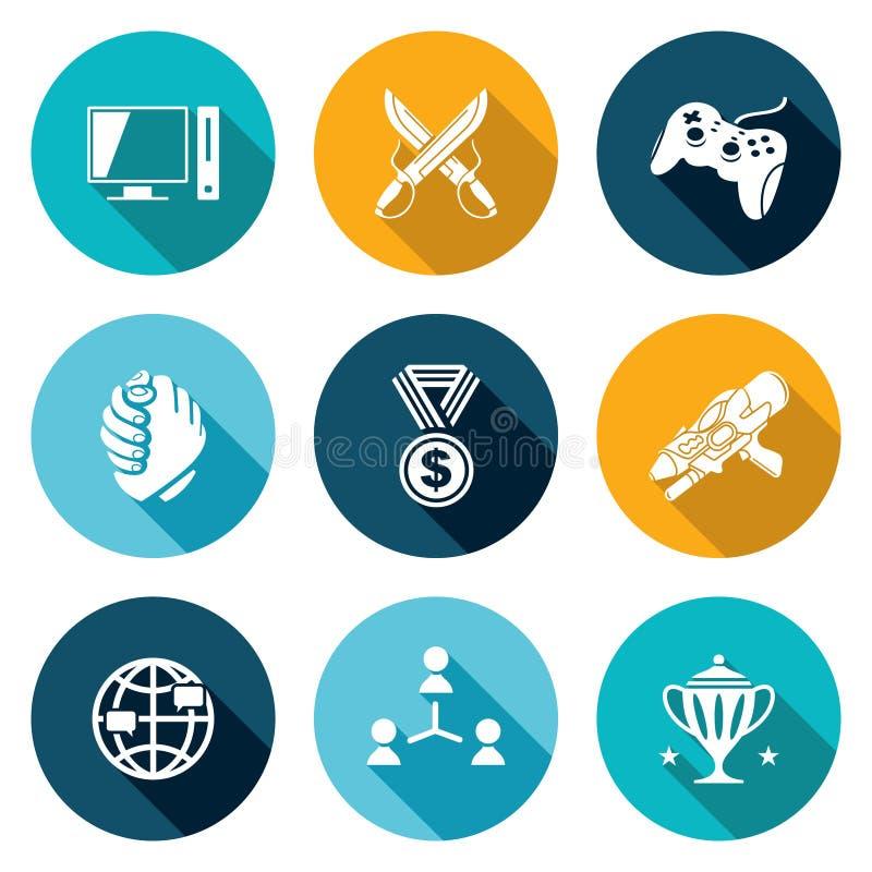 Iconos de los deportes fijados Ilustración del vector ilustración del vector