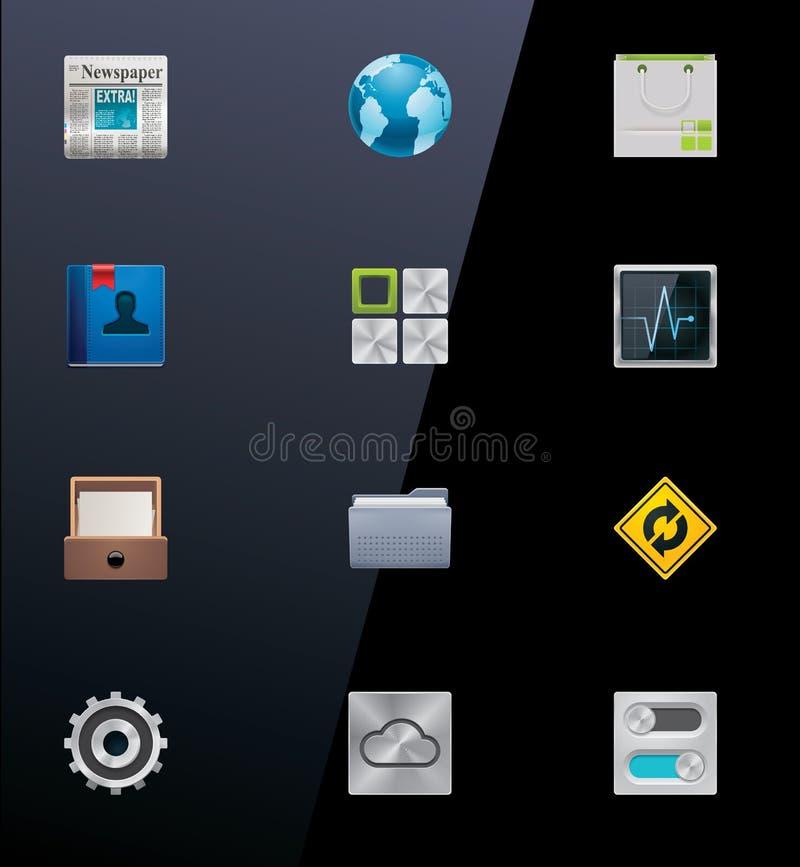 Iconos de los dispositivos móviles del vector. Parte 2 stock de ilustración