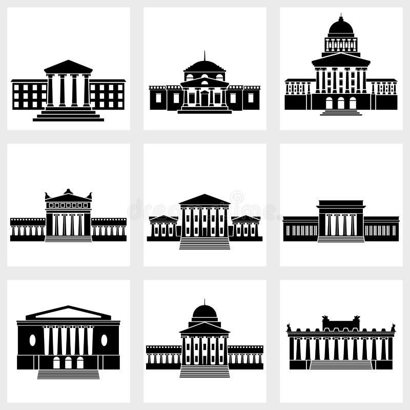 Iconos de los edificios libre illustration