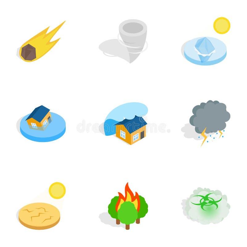 Iconos de los efectos negativos de la civilización libre illustration