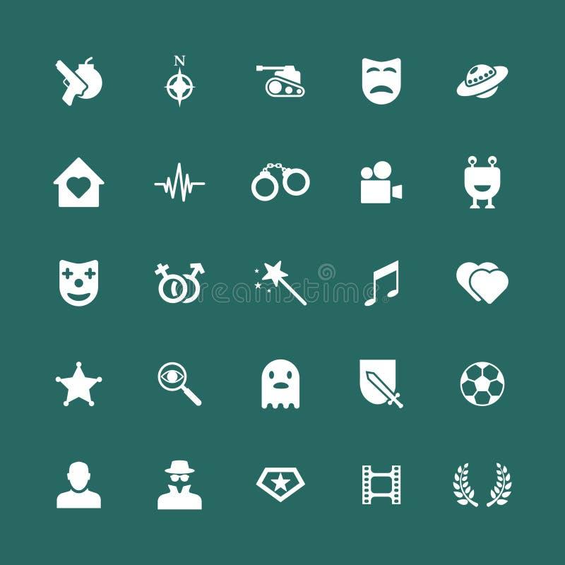 Iconos de los géneros de la película fijados libre illustration