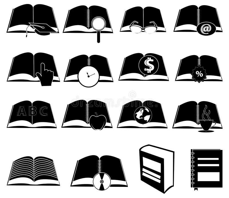 Iconos de los libros fijados libre illustration