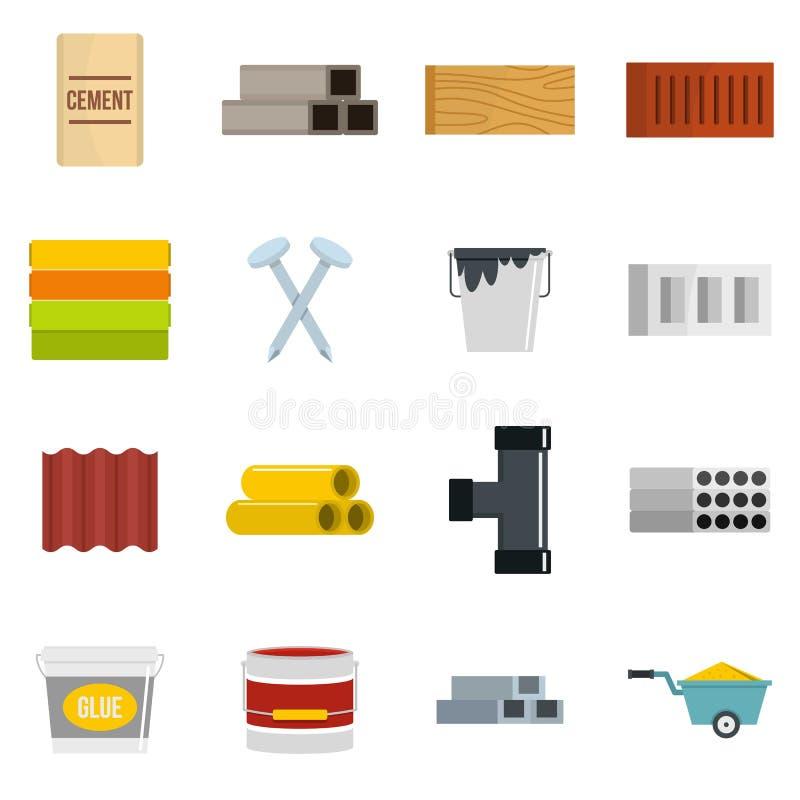 Iconos de los materiales de construcci n fijados en estilo - Materiales de construccion precios espana ...