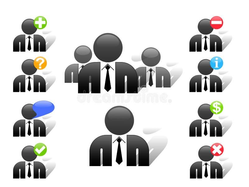 Iconos de los miembros del Web site del vector ilustración del vector