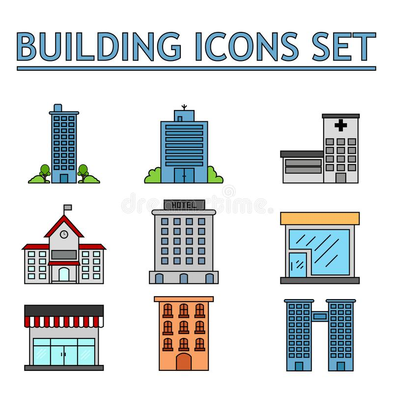 Iconos de los negocios ilustración del vector