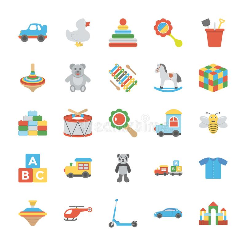 Iconos de los niños y de los niños stock de ilustración