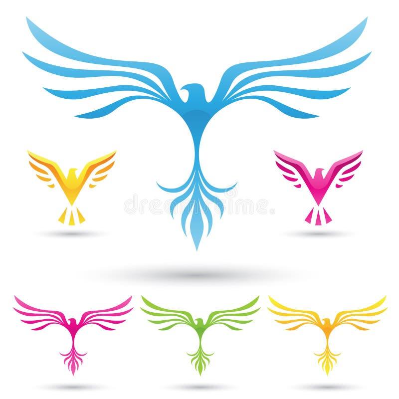 Iconos de los pájaros del vector ilustración del vector