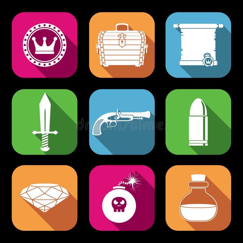 Iconos de los recursos del juego libre illustration