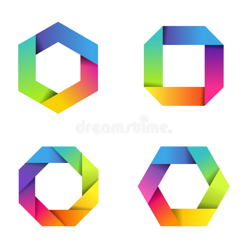 Iconos de papel coloridos libre illustration