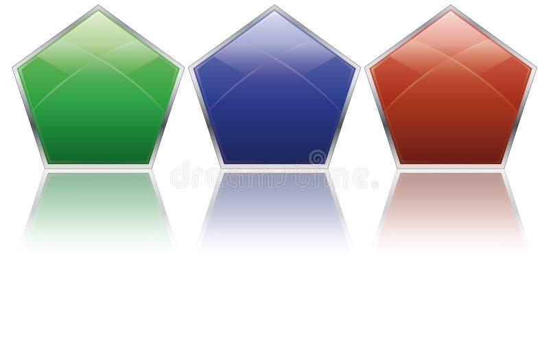 Iconos De Pentagon Imagen de archivo