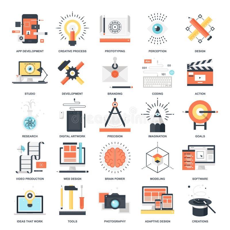 Iconos de proceso creativos libre illustration