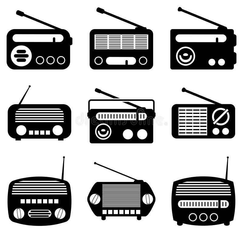 Iconos de radio stock de ilustración