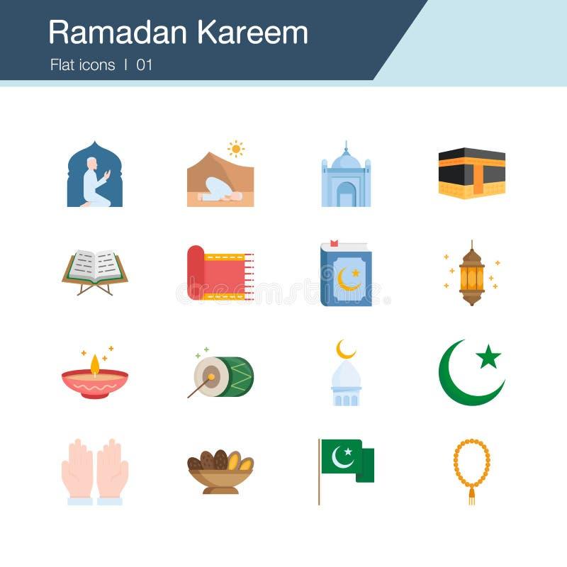 Iconos de Ramadan Kareem Dise?o plano Para la presentaci?n, dise?o gr?fico, aplicaci?n m?vil, dise?o web, infographics, UI libre illustration