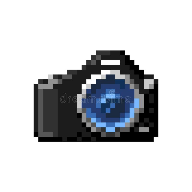 Iconos de SLR Arte del pixel del vector imagenes de archivo
