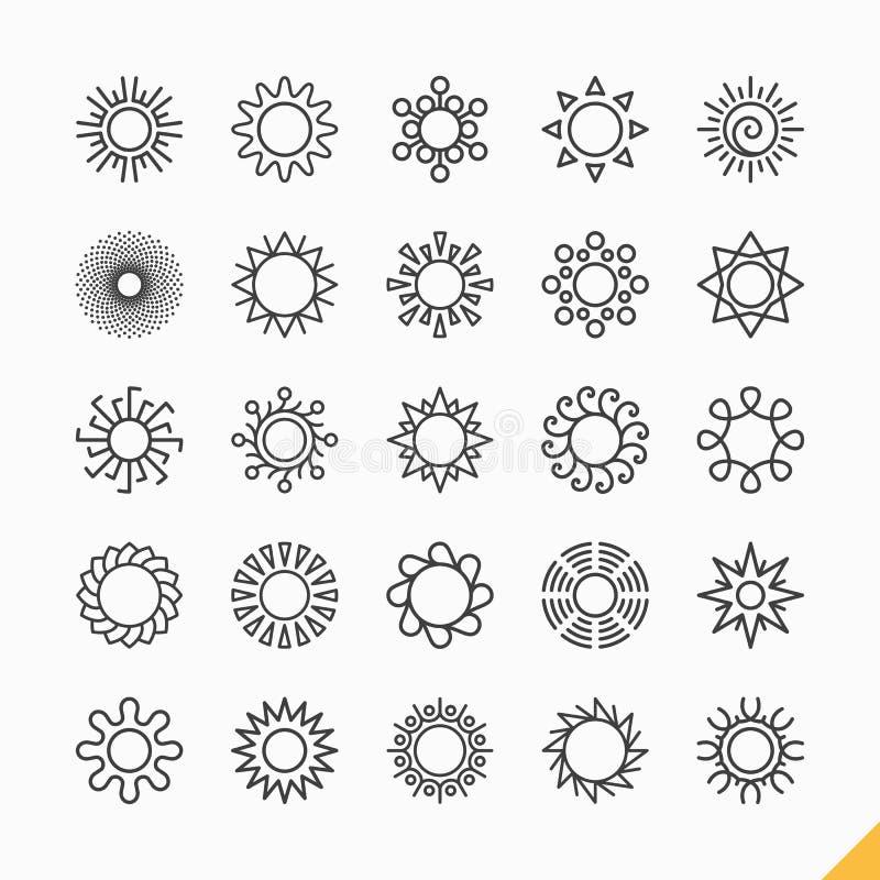 Iconos de Sun stock de ilustración