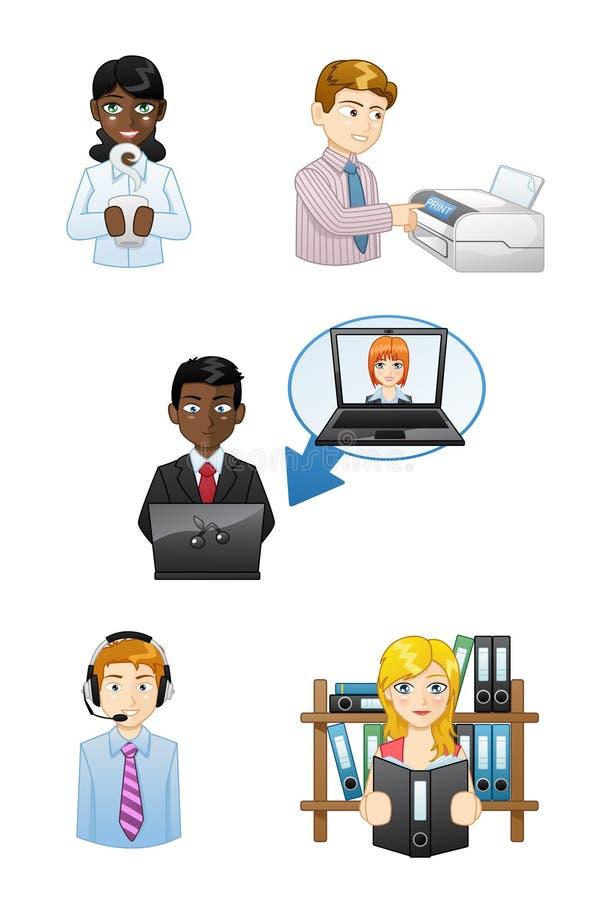 Iconos de trabajo de la gente fijados libre illustration