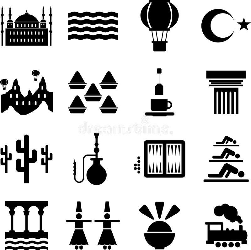 Iconos de Turquía ilustración del vector
