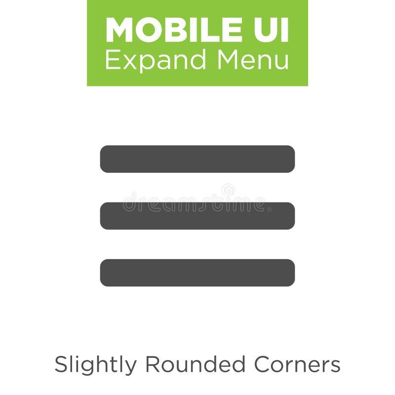 Iconos de UI y de UX para el móvil o las aplicaciones web stock de ilustración
