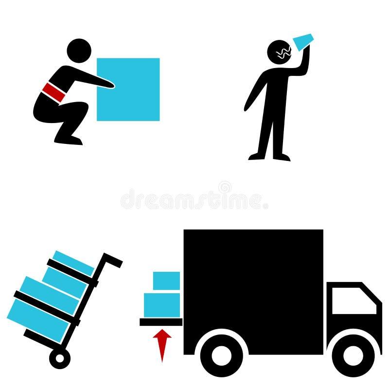 Iconos de Warehouse stock de ilustración