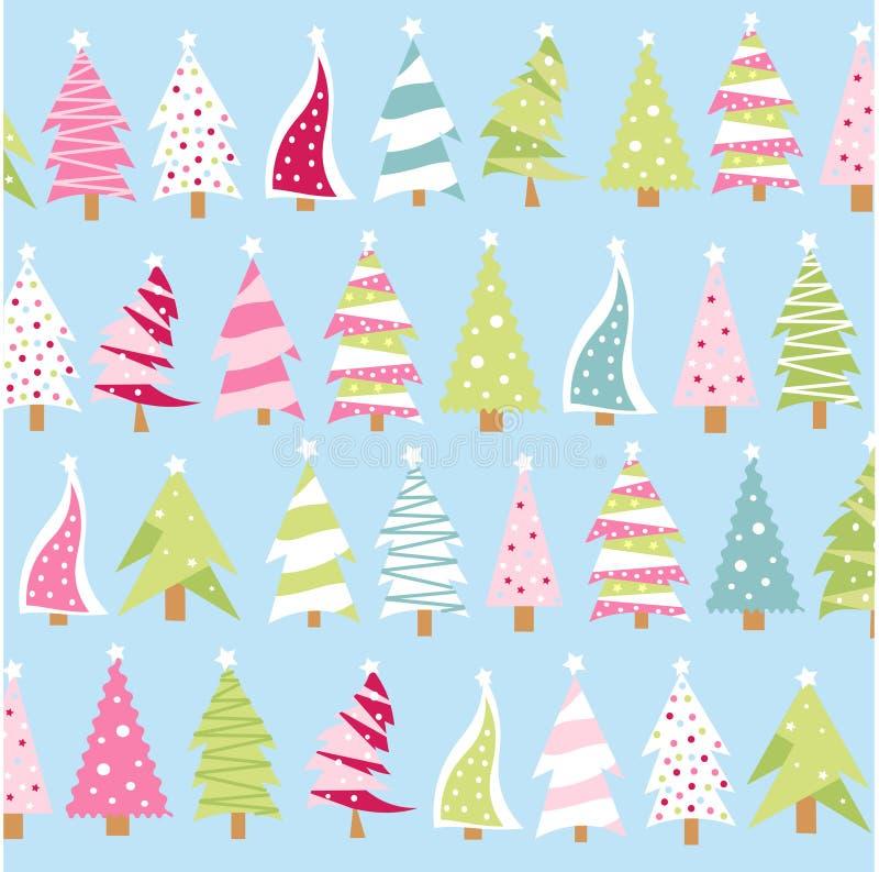 Iconos del árbol de navidad ilustración del vector