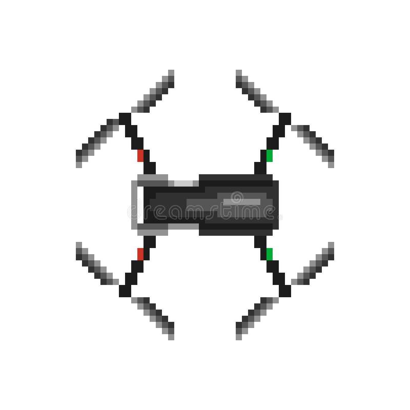 Iconos del abejón Arte del pixel fotografía de archivo