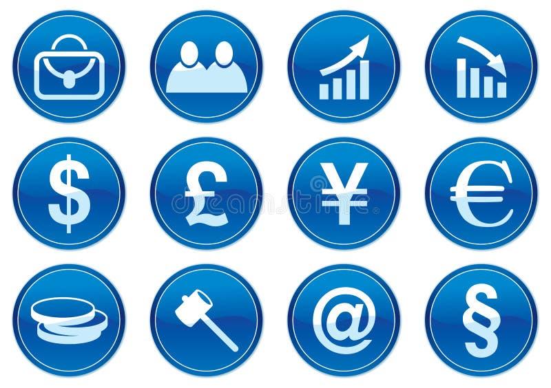 Iconos del adminículo fijados. stock de ilustración