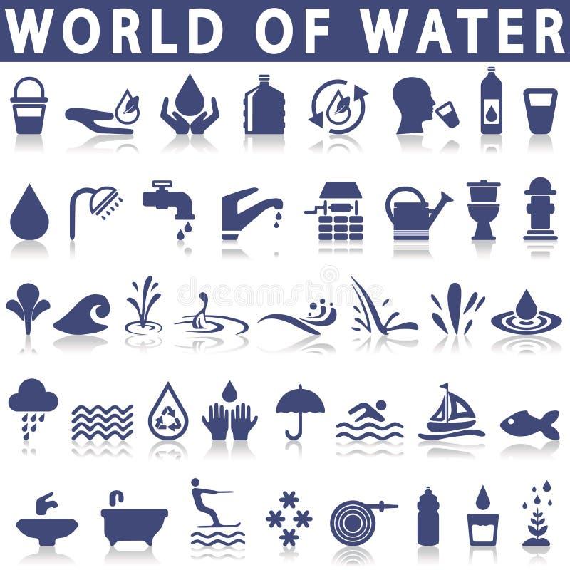 Iconos del agua libre illustration
