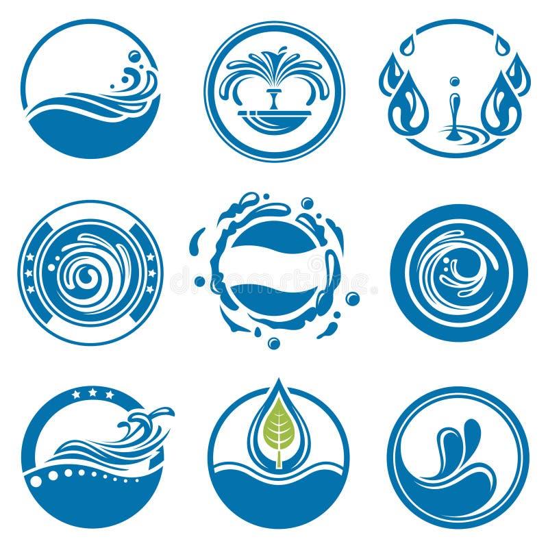Iconos del agua fijados libre illustration